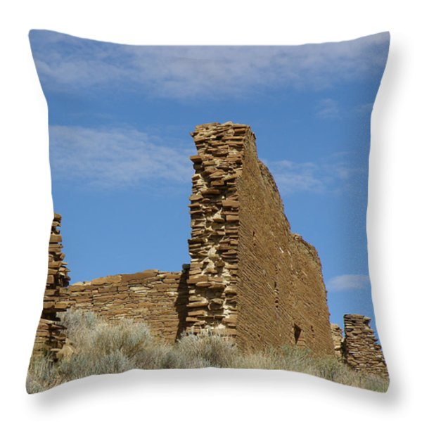 Una Vida Walls At Chaco Throw Pillow by FeVa  Fotos