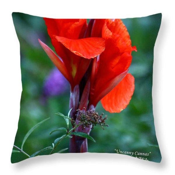 Uncanny Canna Throw Pillow by Patrick Witz