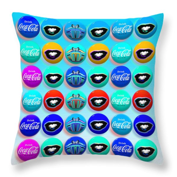 Uncle Sams buttons Throw Pillow by Charles Stuart