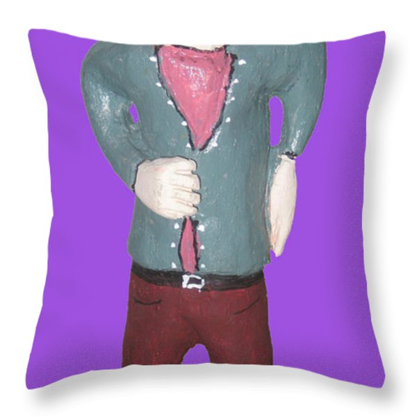 Uncle Tom Throw Pillow by Robert Margetts