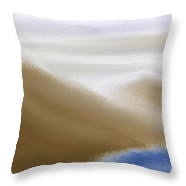 Under A Winter Sky Throw Pillow by Gina Lee Manley