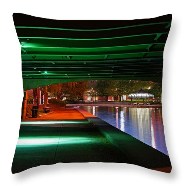 Under The Bridge Throw Pillow by Joann Vitali