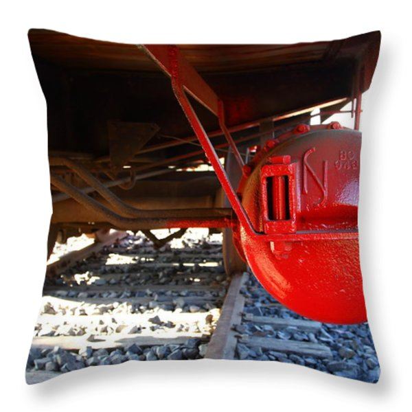 Under The Old Western Pacific Caboose Train . 7d10722 Throw Pillow by Wingsdomain Art and Photography