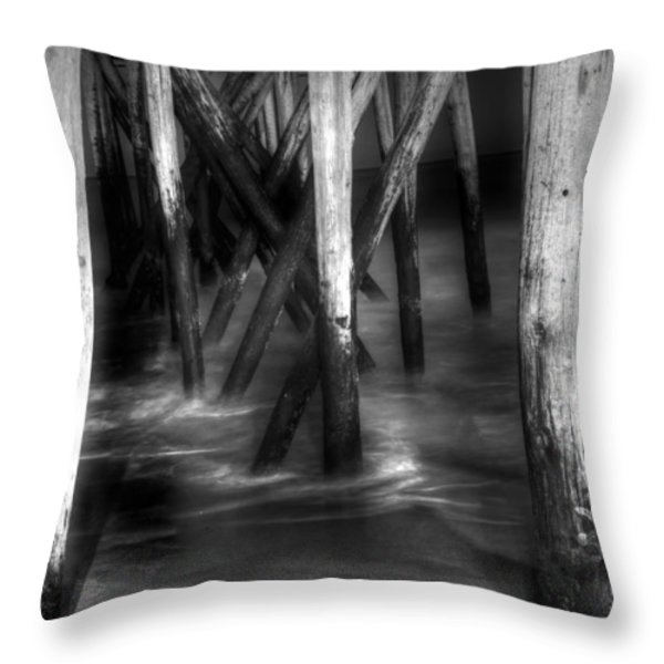 Under The Pier Throw Pillow by Paul Ward