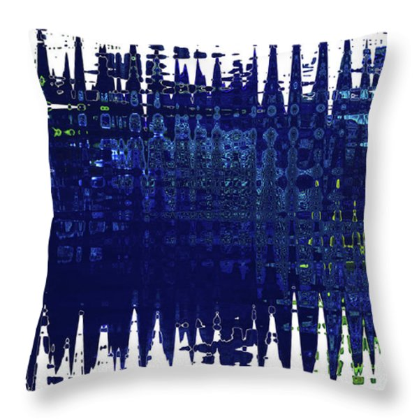 Under the Sea - Abstract Art Throw Pillow by Carol Groenen