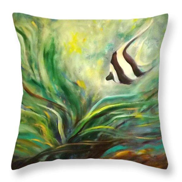 Throw Pillows - Under the Sea 19 Throw Pillow by Gina De Gorna