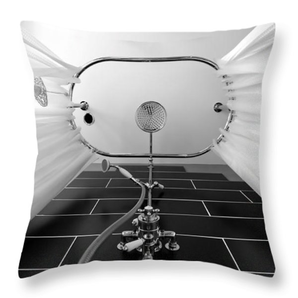 Underneath An Old Style Shower Throw Pillow by Simon Bratt Photography LRPS