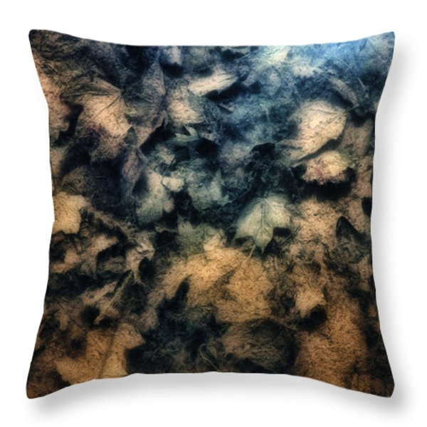 Underwater Leaves Throw Pillow by Tom Mc Nemar