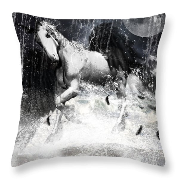 Unicorn's Complexities Throw Pillow by Lourry Legarde