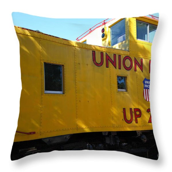 Union Pacific Caboose - 5D19205 Throw Pillow by Wingsdomain Art and Photography