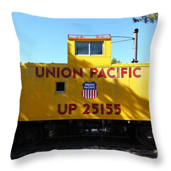 Union Pacific Caboose - 5D19206 Throw Pillow by Wingsdomain Art and Photography