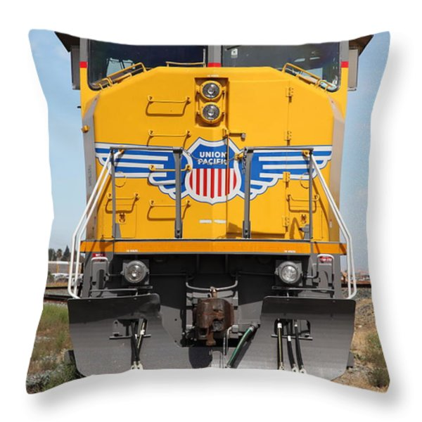 Union Pacific Locomotive Train - 5d18636 Throw Pillow by Wingsdomain Art and Photography