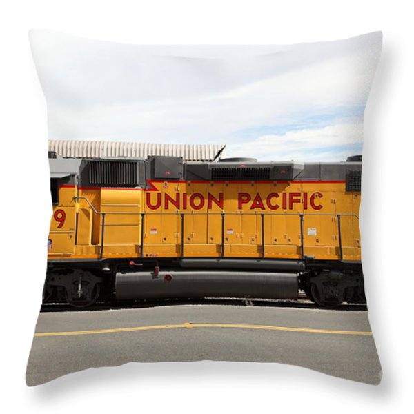 Union Pacific Locomotive Train - 5D18648 Throw Pillow by Wingsdomain Art and Photography