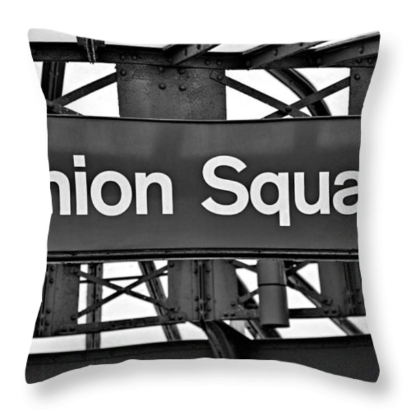 Union Square  Throw Pillow by Susan Candelario