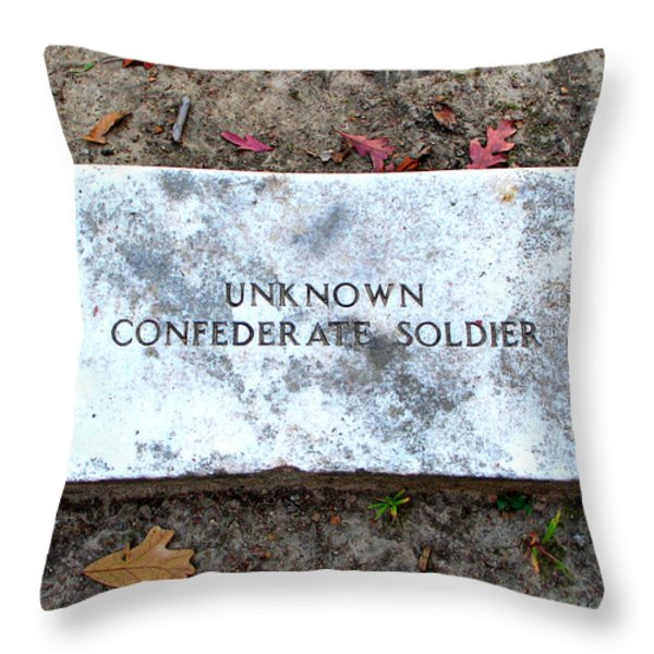 Unknown Confederate Soldier Throw Pillow by Renee Trenholm