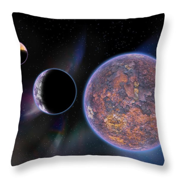 Unknown Worlds Throw Pillow by Barry Jones