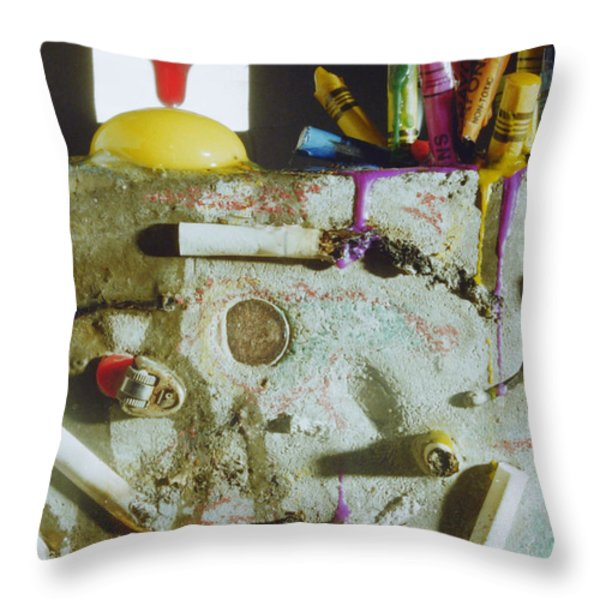 Untitled Throw Pillow by Gabe Arroyo