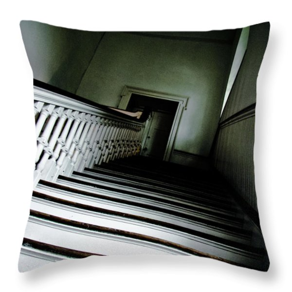 Upstairs Throw Pillow by Jessica Brawley