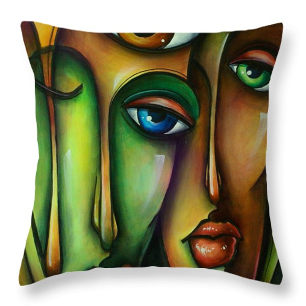 Urban Expressions Throw Pillow by Michael Lang