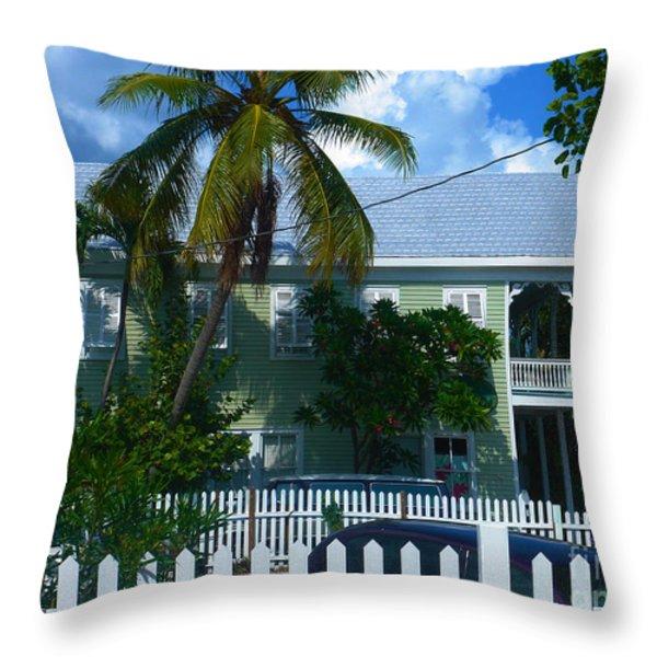 Urban Key West  Throw Pillow by Susanne Van Hulst