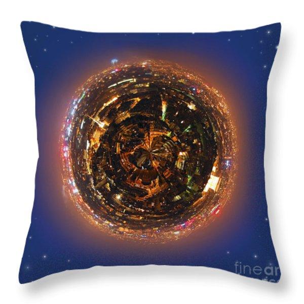 Urban planet Throw Pillow by Elena Elisseeva