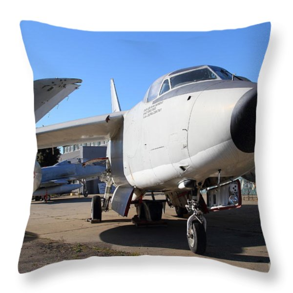 US Fighter Jet Plane . 7D11223 Throw Pillow by Wingsdomain Art and Photography