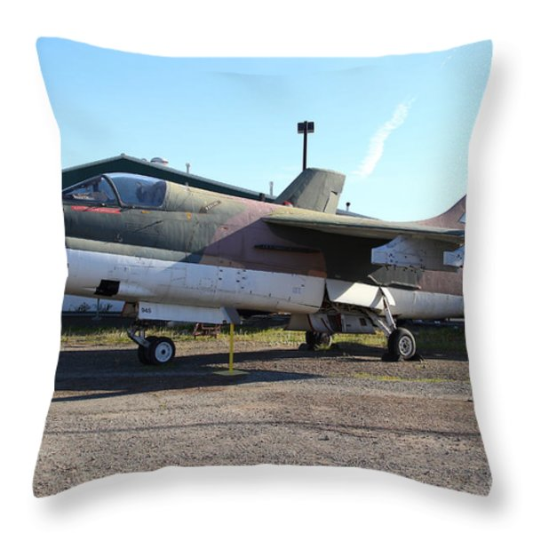 Us Fighter Jet Plane . 7d11239 Throw Pillow by Wingsdomain Art and Photography