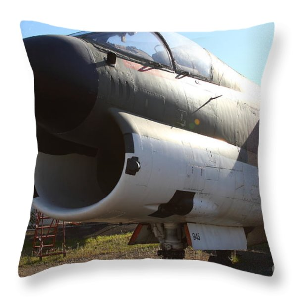 US Fighter Jet Plane . 7D11240 Throw Pillow by Wingsdomain Art and Photography