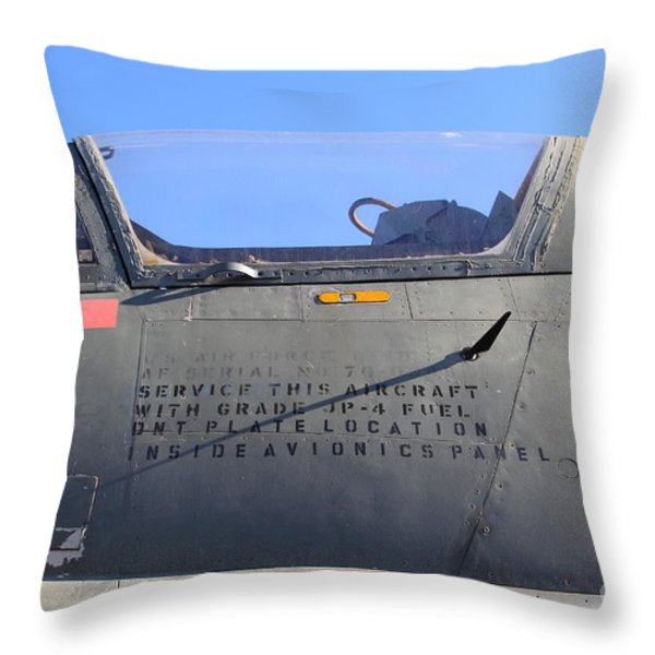 US Fighter Jet Plane . 7D11295 Throw Pillow by Wingsdomain Art and Photography