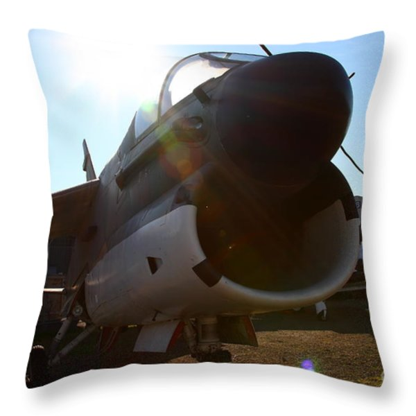 Us Fighter Jet Plane . 7d11296 Throw Pillow by Wingsdomain Art and Photography