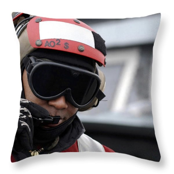 U.s. Navy Aviation Ordnanceman Reports Throw Pillow by Stocktrek Images