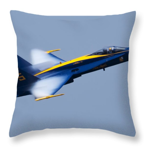 US Navy Blue Angels High Speed Pass Throw Pillow by Dustin K Ryan