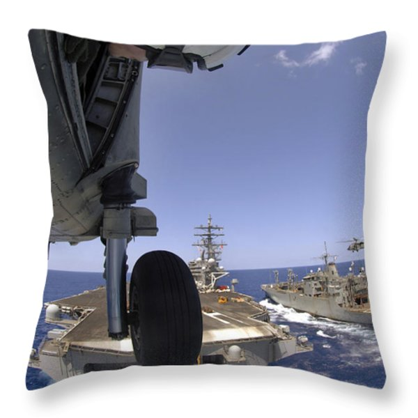 U.s. Navy Petty Officer Leans Throw Pillow by Stocktrek Images