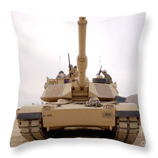 U.s. Soldiers Perform Maintenance Throw Pillow by Stocktrek Images