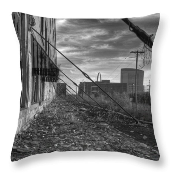 USA's Most Dangerous City Throw Pillow by Jane Linders