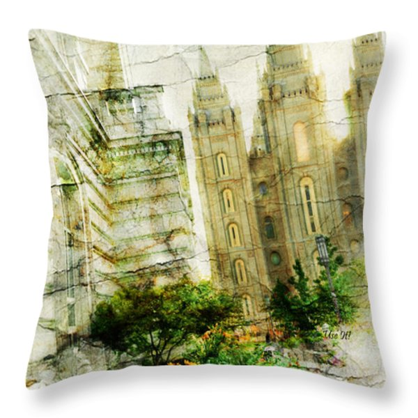 Use It Slc Throw Pillow by La Rae  Roberts