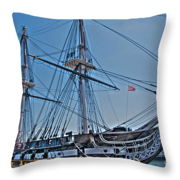 U.s.s. Constitution Throw Pillow by Jonathan Harper