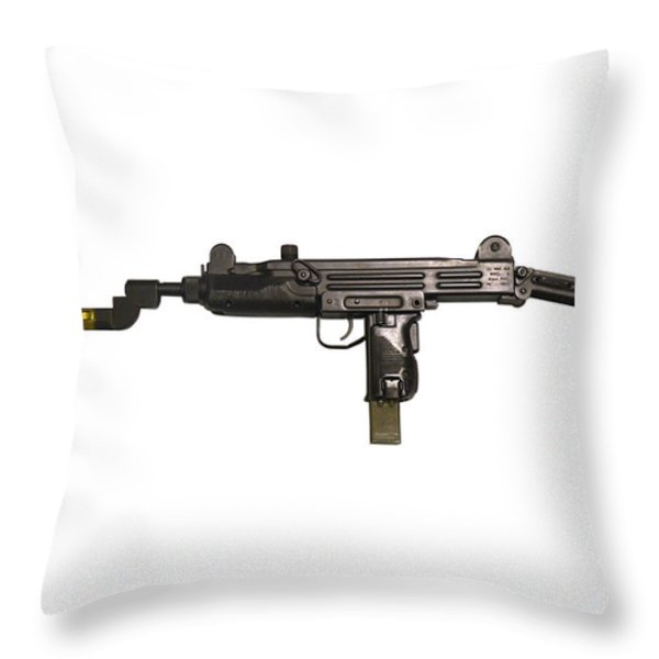 Uzi 9mm Submachine Gun With Attached Throw Pillow by Andrew Chittock