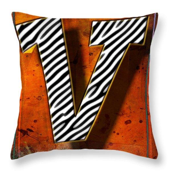 V Throw Pillow by Mauro Celotti