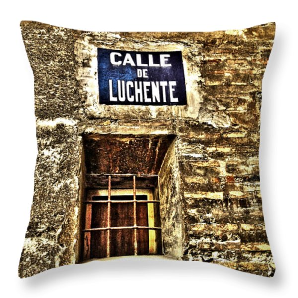 Valencia - Spain Throw Pillow by Juergen Weiss