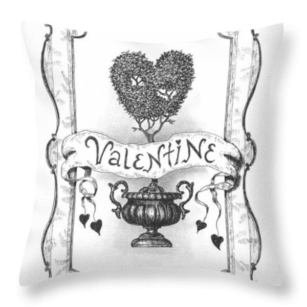 Valentine Throw Pillow by Adam Zebediah Joseph