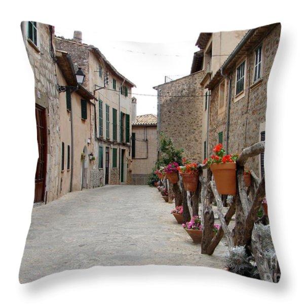 Valldemossa Throw Pillow by Ana Maria Edulescu