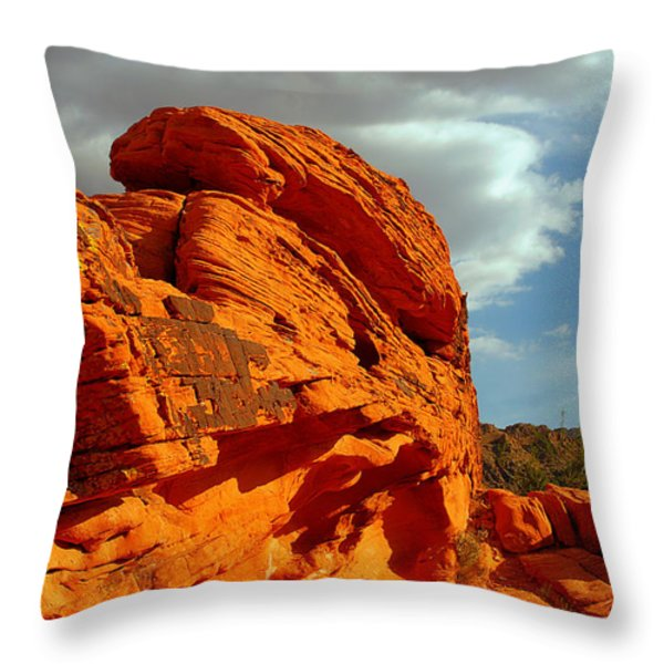 Valley of Fire - Born to be wild Throw Pillow by Christine Till