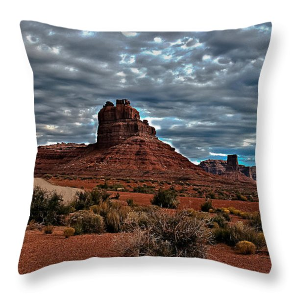 Valley Of The Gods II Throw Pillow by Robert Bales