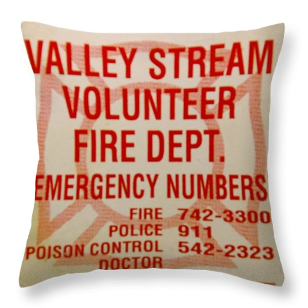 VALLEY STREAM FIRE DEPARTMENT Throw Pillow by ROB HANS