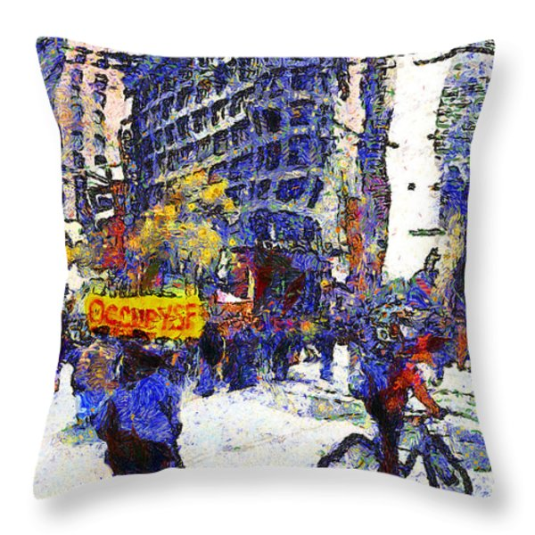 Van Gogh Occupies San Francisco . 7d9733 Throw Pillow by Wingsdomain Art and Photography