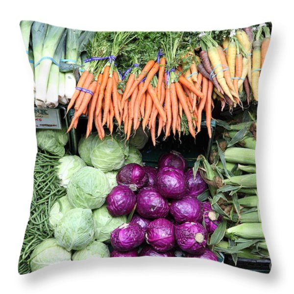 Variety of Fresh Vegetables - 5D17910 Throw Pillow by Wingsdomain Art and Photography