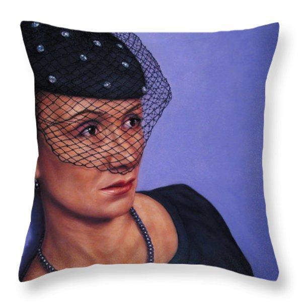 Veiled Throw Pillow by James W Johnson