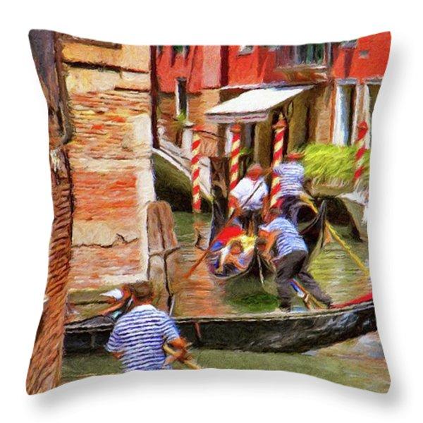 Venetian Red Throw Pillow by Jeff Kolker
