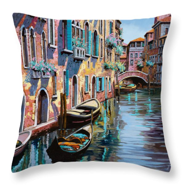 venezia in rosa Throw Pillow by Guido Borelli